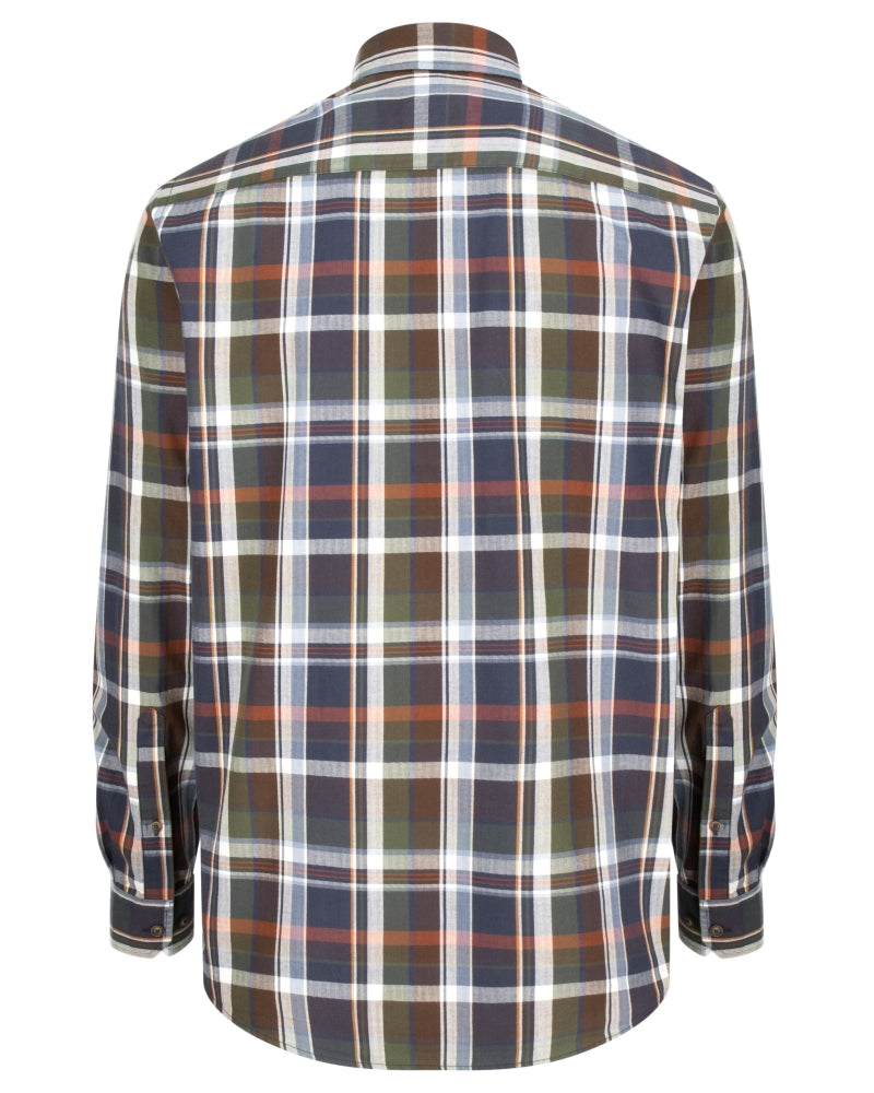 Hoggs of Fife Luthrie Plaid Shirt (Navy Check)