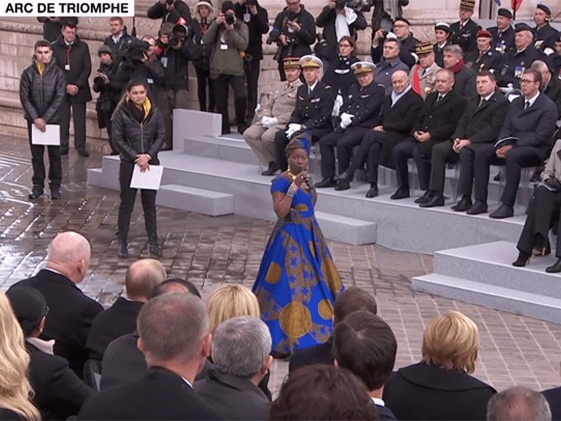 Angelique Kidjo Sings in Honor of Fallen African Soldiers