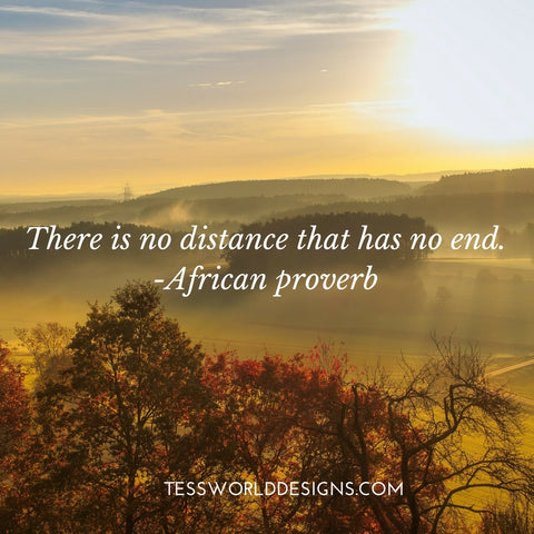 distance african proverb