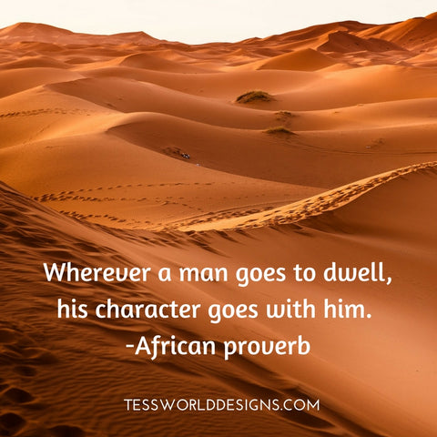 man character african proverb