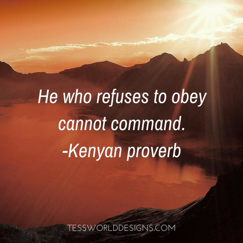 obey command african proverb