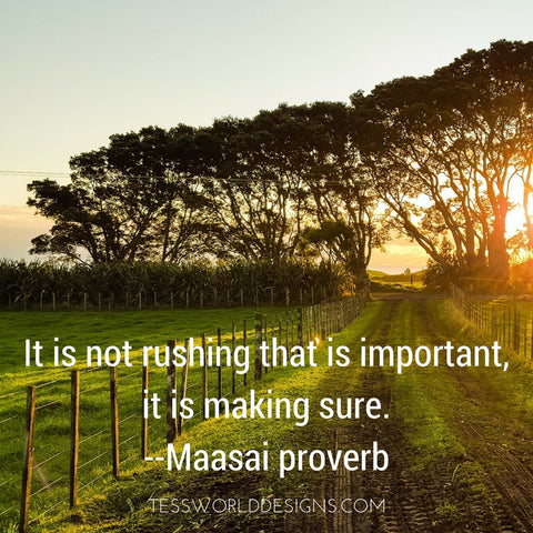 rushing african proverb