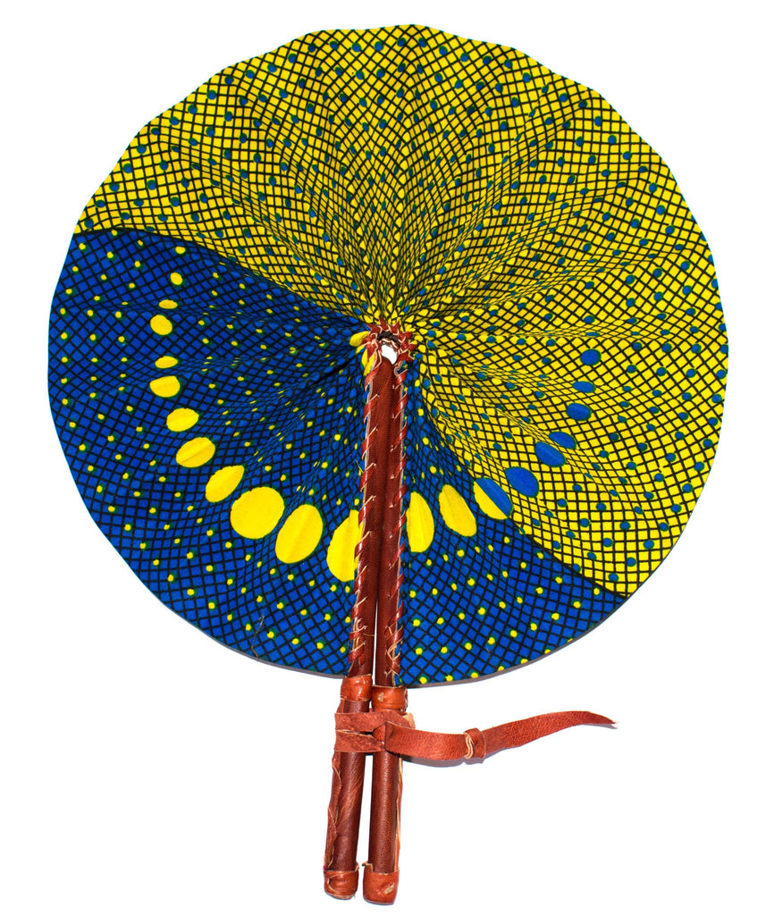 African Fabric fan, Uma AC60 - Tess World Designs, LLC