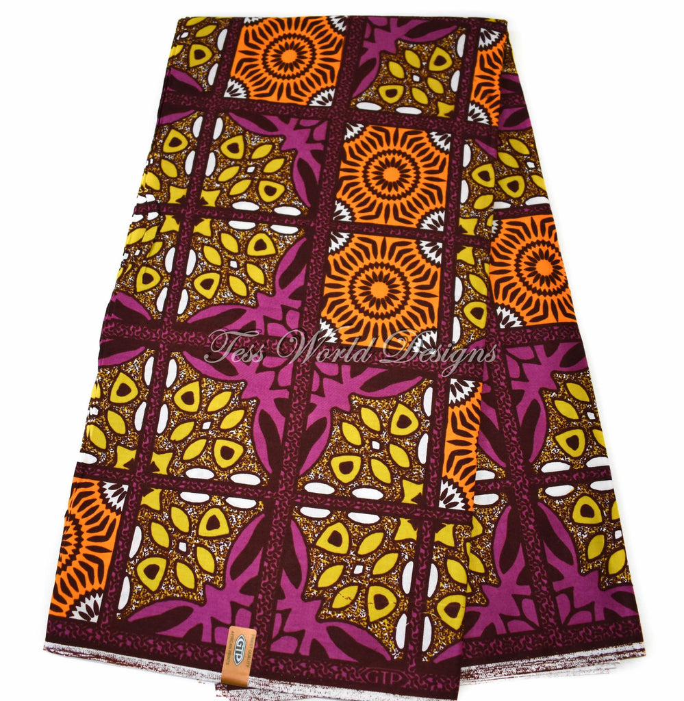 High quality African fabric per yard/ GTP/ African print fabric/ Ankara clothing/ Fabric from Ghana/ Bright colors WP1167B