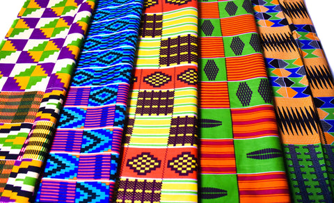 Fat quarters fabric/ 5 Kente bundle/ Fat quarter bundle/ African print/ Ankara fabric/ Kente bundle/ Quilting fabric/ 5 Fat Quarter/ KB161
