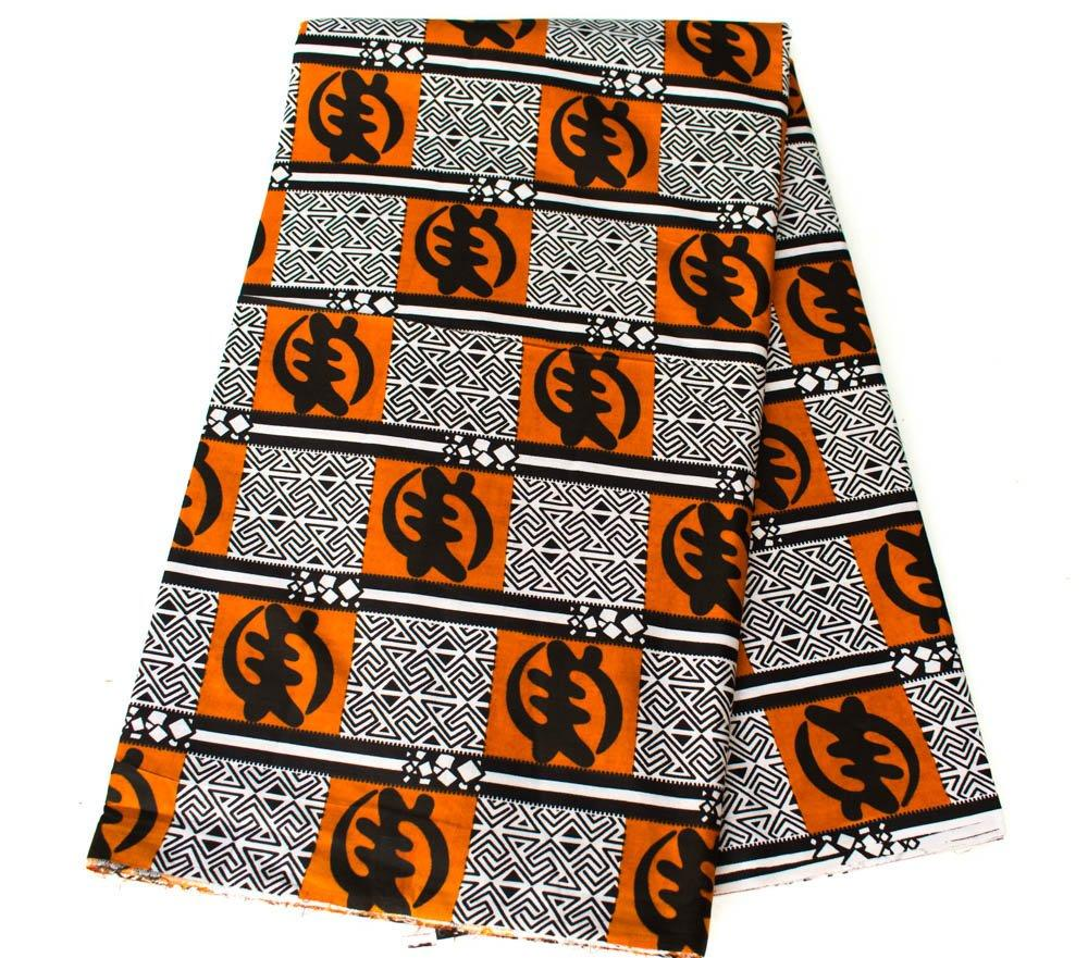 Gye Nyame African Fabric 6 yards/African fabric/ Ankara print fabric/ Tribal print, wax print fabric/ African supplies/TP93