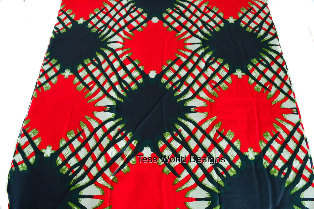 WP697 - African Fabric Splash 6 yards - Tess World Designs  - 2