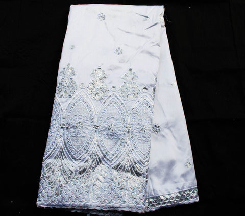 GO4 - George lace, white  5 yards - Tess World Designs