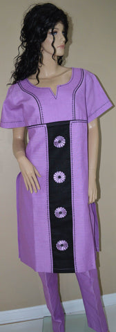 Women- suits 100 % Linen, Lilac - Tess World Designs