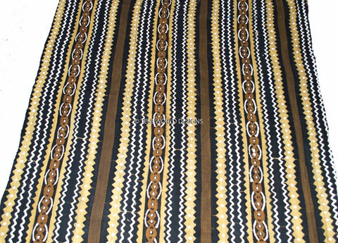 MC53 - Authentic Hand woven Mudcloth Fabric, Chevron - Tess World Designs