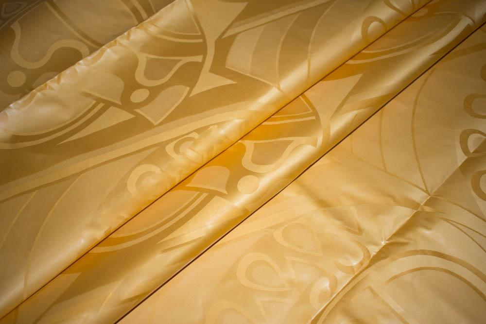 Gold Guinea Brocade by the yard/ African Brocade fabric by the yard/ Bazin fabric/ cotton Damask Fabric B67B