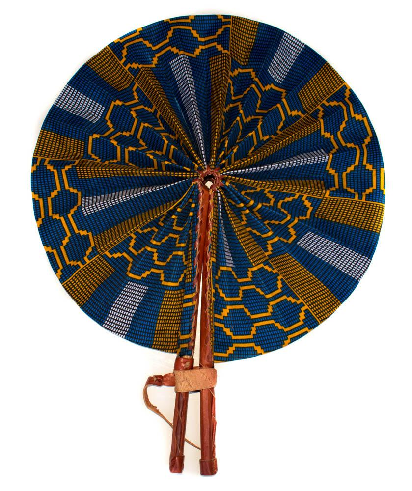 African Fabric fan, Uma AC56 - Tess World Designs, LLC