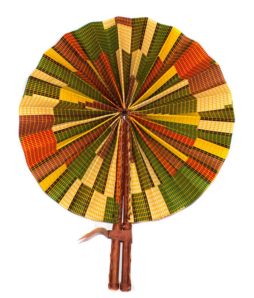 African Fabric fan, mat AC72 - Tess World Designs, LLC