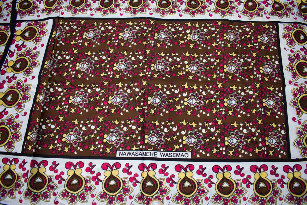 Kanga fabric, from Kenya, 2 panels KG83