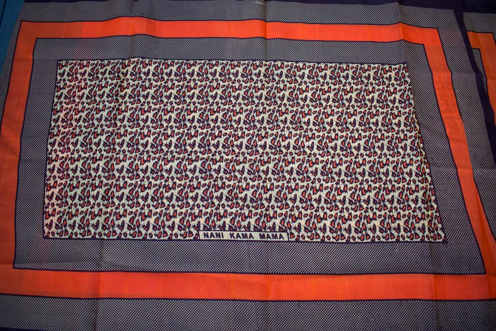 Kanga fabric from Kenya, African Fabric, 2 panels Mama KG89