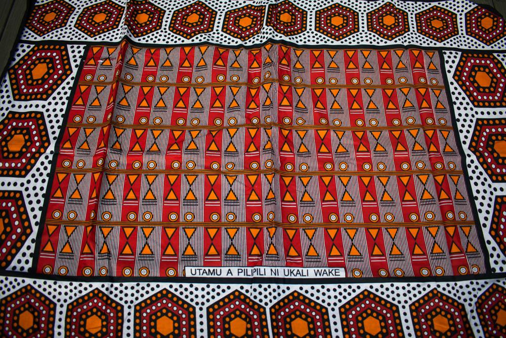 Kanga fabric from Kenya/ African Fabric/ 2 panels pilipili KG82