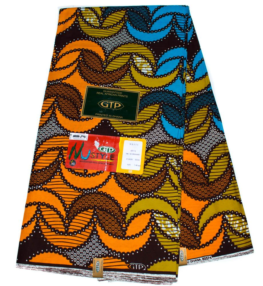African fabric by the yard, originally made in Ghana/ GTP/ Locket WP1253B - Tess World Designs, LLC