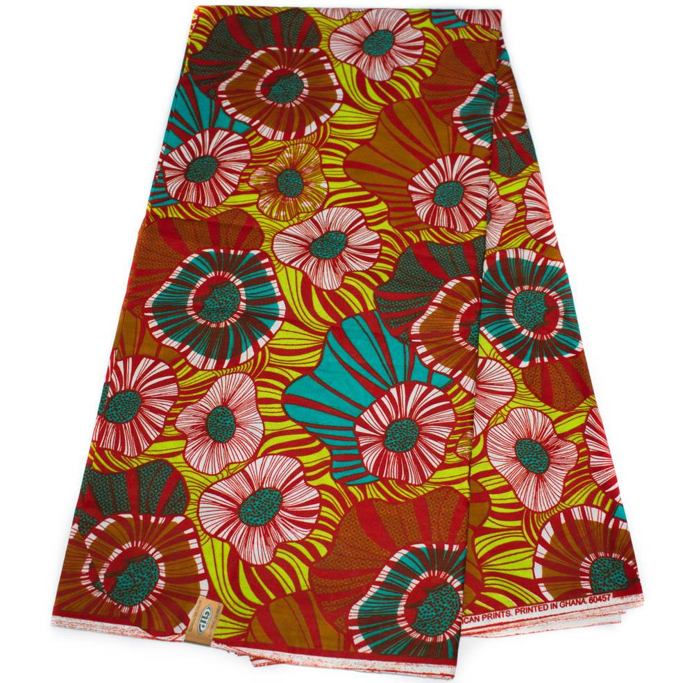 African fabric by the yard, originally made in Ghana/ GTP/ Lily  WP1254B - Tess World Designs, LLC