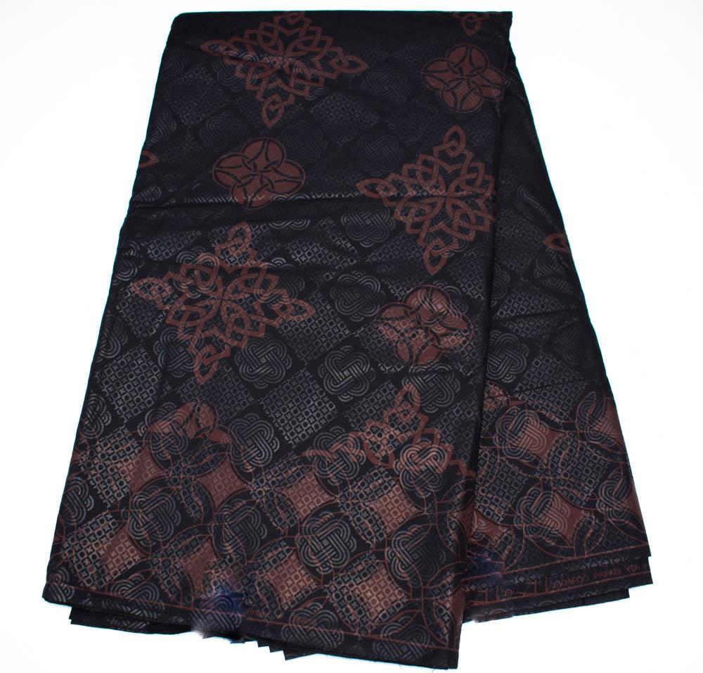 Brown and Black African fabric 6 yards/,made in Ghana, Kobri WP1249 - Tess World Designs, LLC