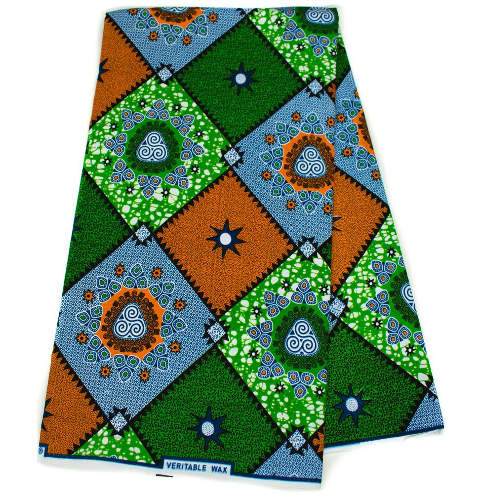 Blue African fabric wholesale, 6 yards/ Ankara Fabric/ Holland, WP1256 - Tess World Designs, LLC