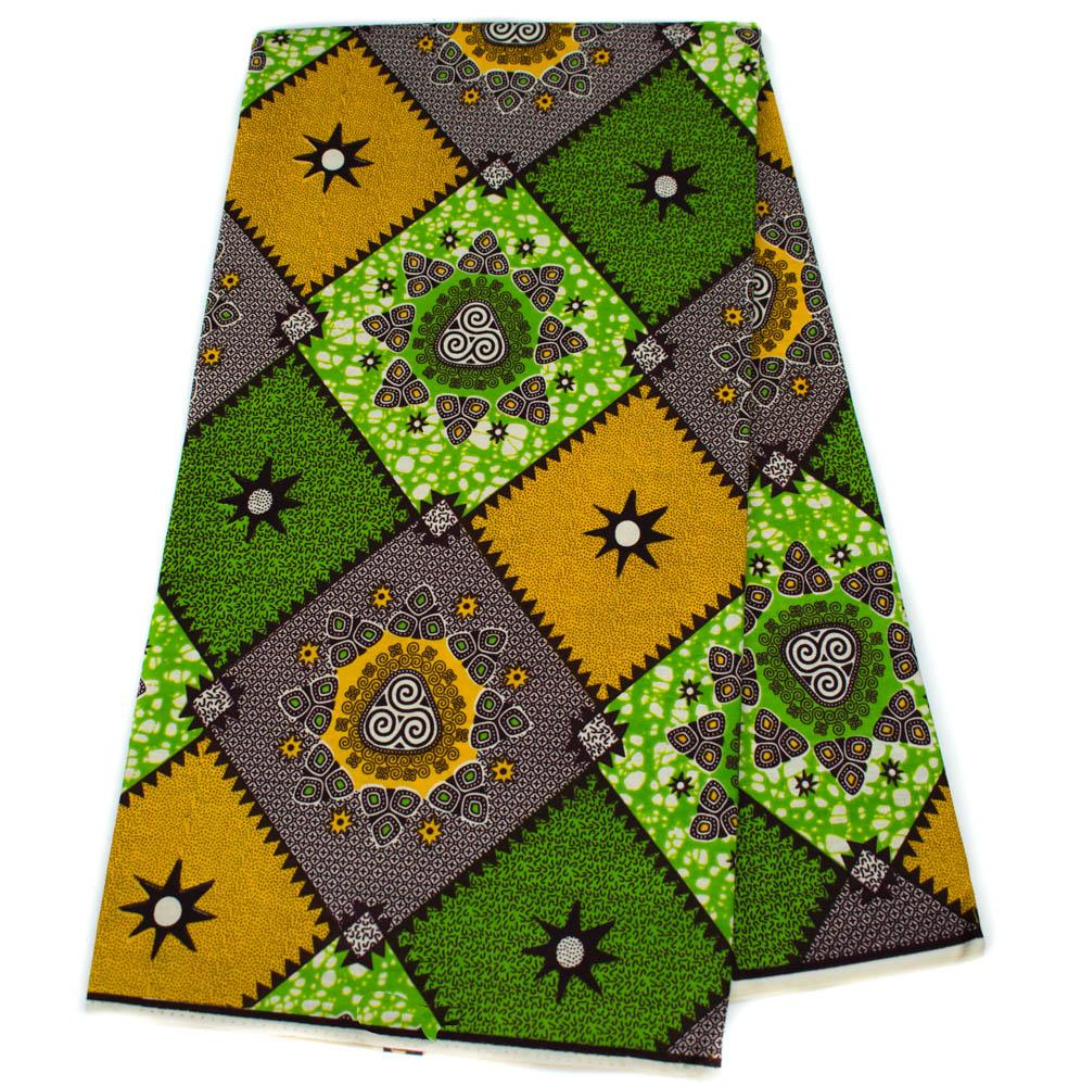 Mustard African fabric wholesale, 6 yards/ Ankara Fabric/ Holland, WP1257
