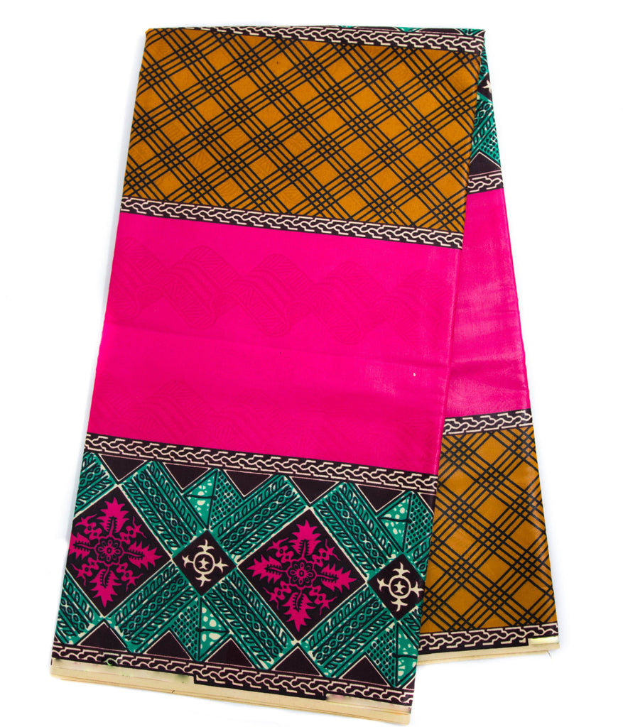 African fabric 6 yards| Metallic Fuchsia| Africa fabric| Holland Kugalu OM9 - Tess World Designs, LLC