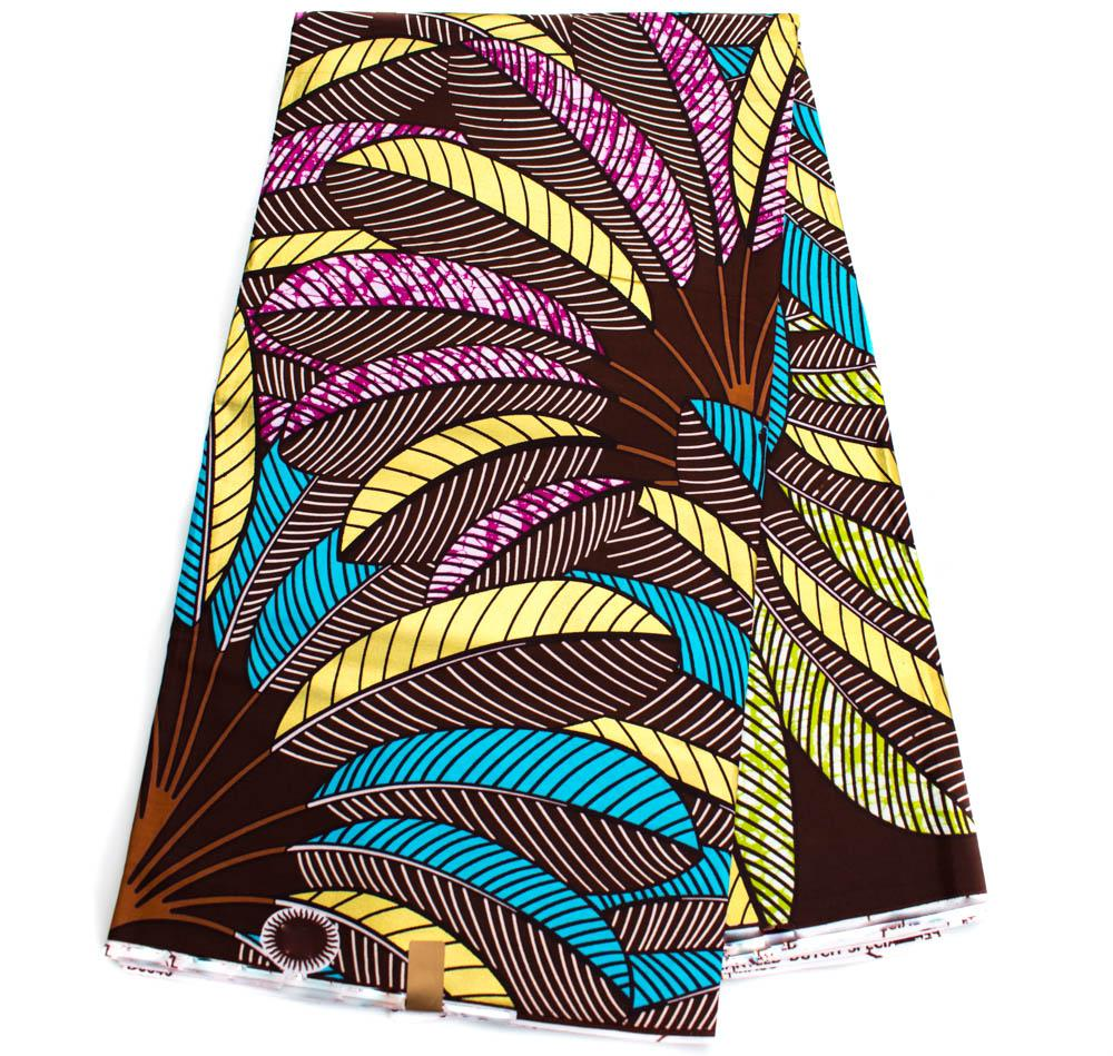 African fabric 6 yards/ Ankara print/ metallic palm WP1272 - Tess World Designs, LLC