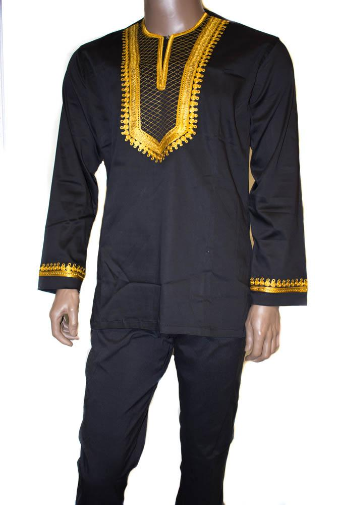 Men's clothing, black suit made in Ghana  MW17