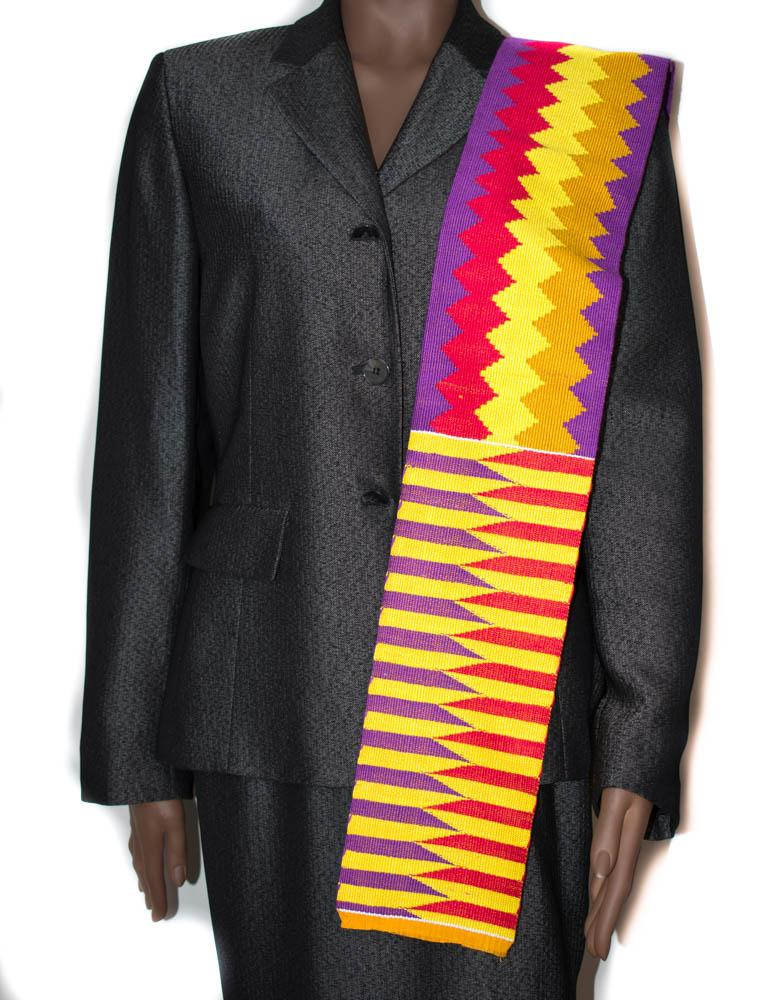 Hand woven Kente stole, from Ghana Abena KS15