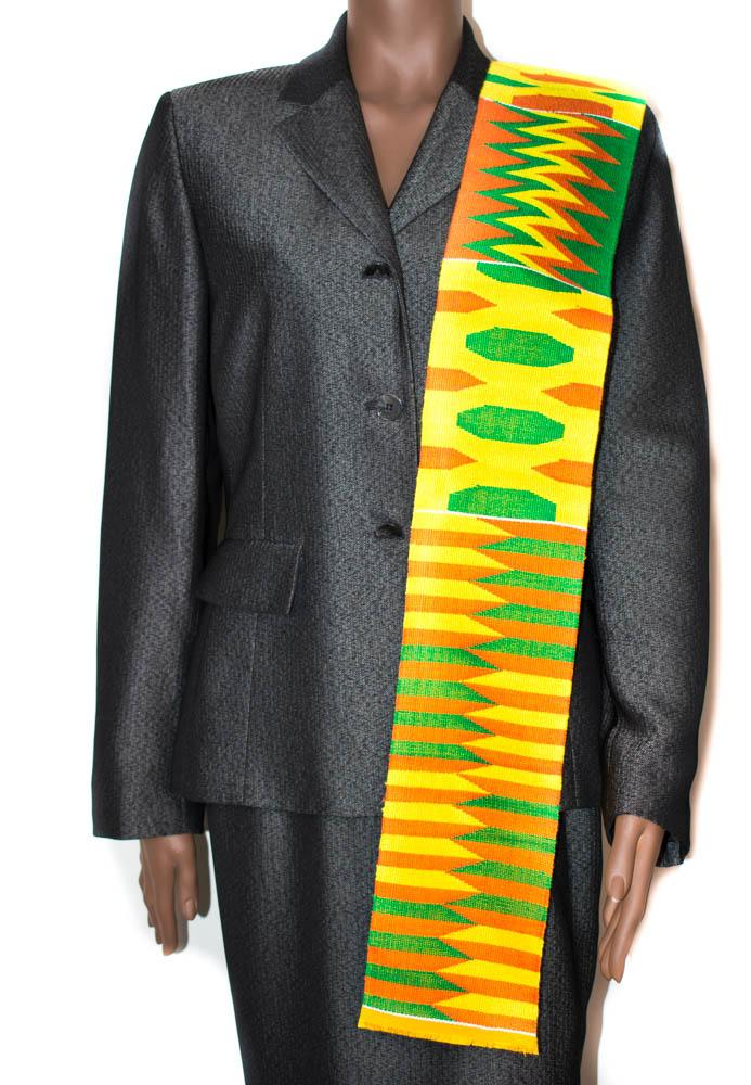 Hand woven Kente stole, from Ghana Esi KS16
