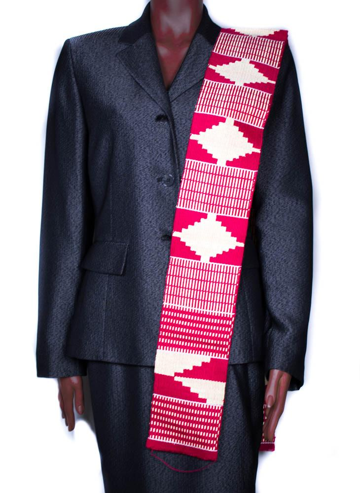 Hand woven Kente stole, from Ghana Akua KS17
