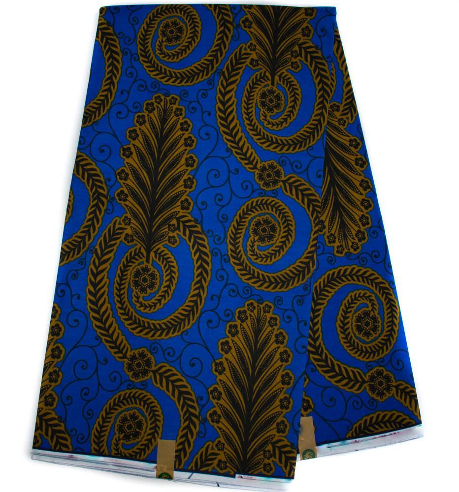 Ankara fabric 6 yards/ royal blue African fabric/ WP1284 - Tess World Designs, LLC