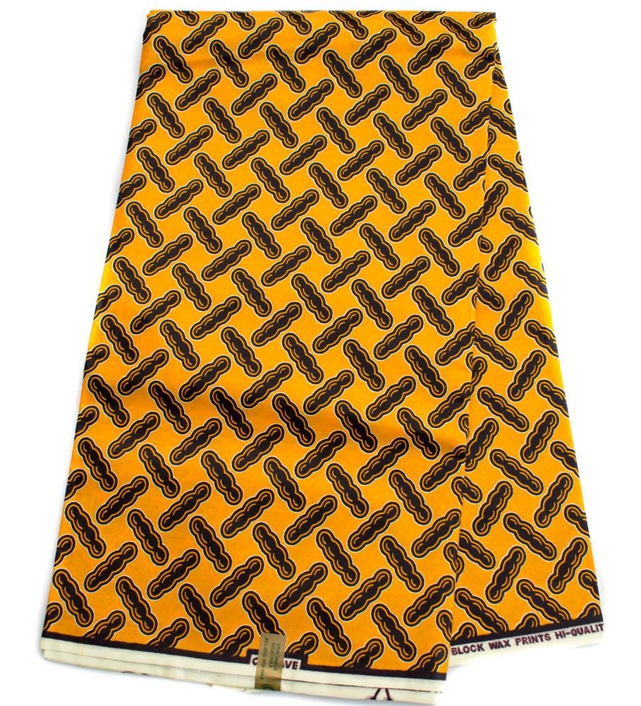 African fabric 6 yards/ Ankara fabric/ peanut, orange WP1290 - Tess World Designs, LLC