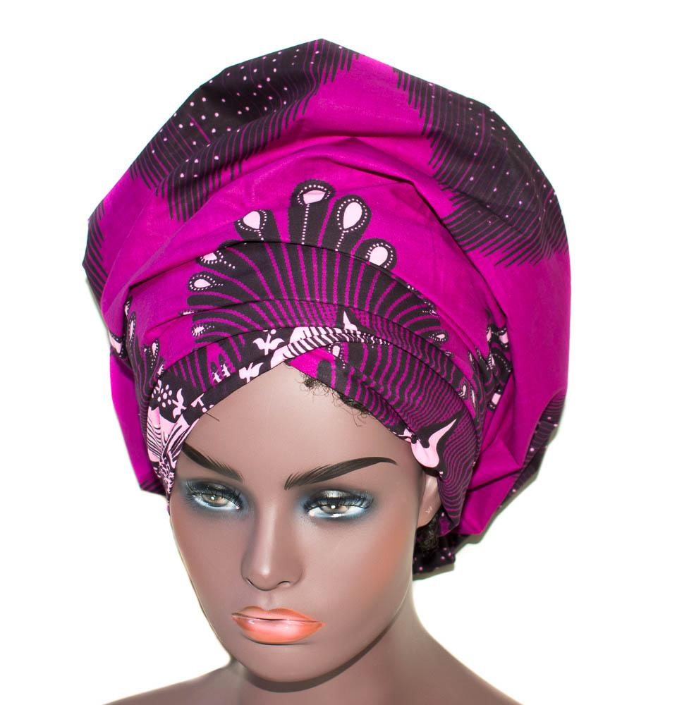 African Headwraps, African fabric, purple HT283 - Tess World Designs, LLC