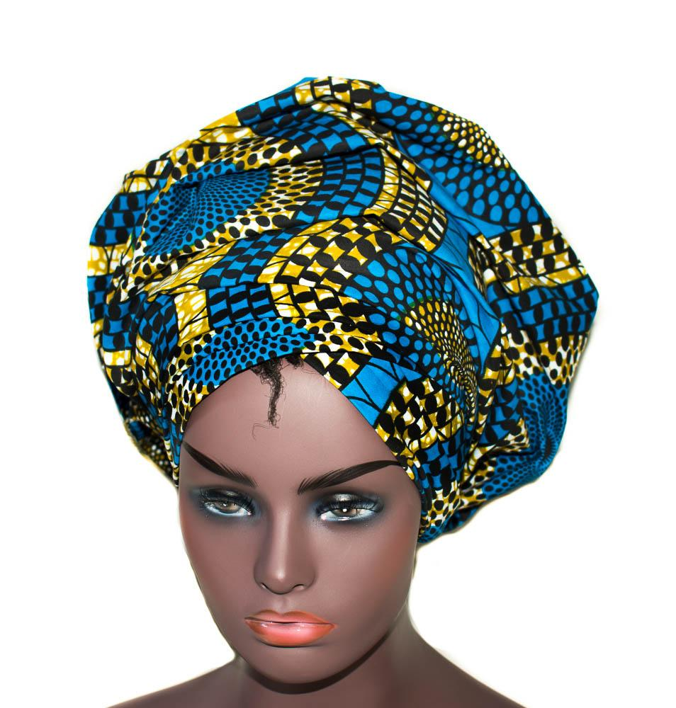 African Headwraps, African fabric, circle HT284 - Tess World Designs, LLC