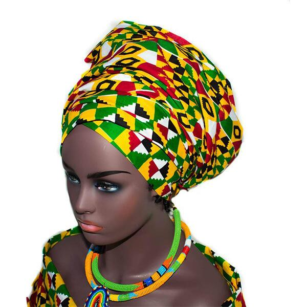 African Headwrap, Kente head wrap  HT201 - Tess World Designs, LLC
