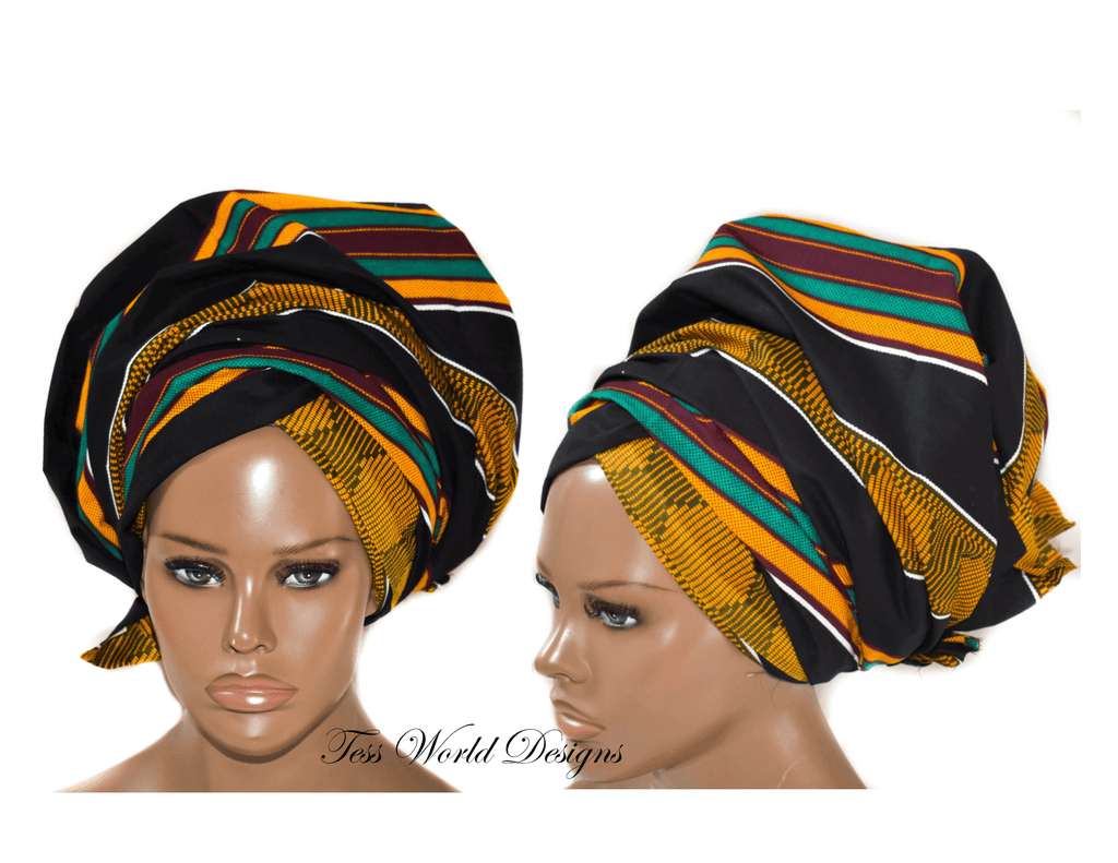 African Headwrap, African fabric, HT245 - Tess World Designs, LLC