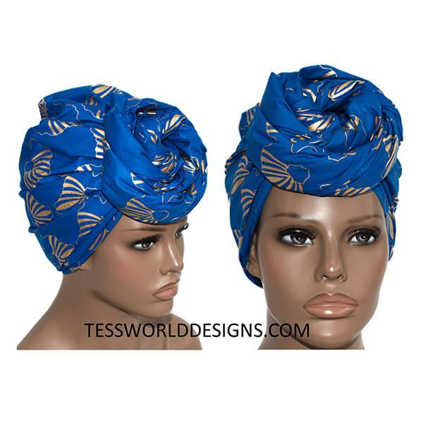 African Head wrap/ African fabric/ Fatia HT854 - Tess World Designs, LLC