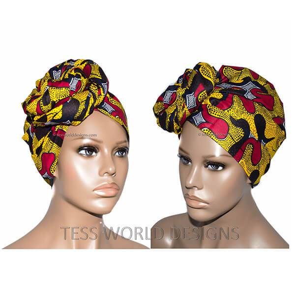 African Print headwraps, Abstract HT99 - Tess World Designs, LLC