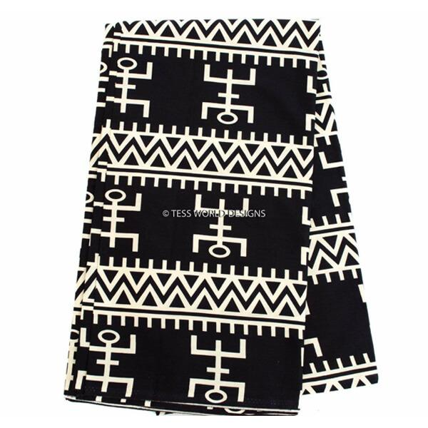 Africa fabric by the yard/ made in Mali/Ankara fabric /Dogon symbol  TP66B - Tess World Designs, LLC