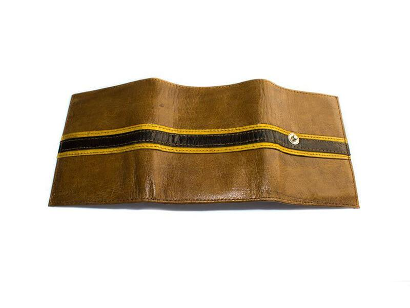 Men's African Wallet| Mali Leather Wallet| Handmade| Tan| W02