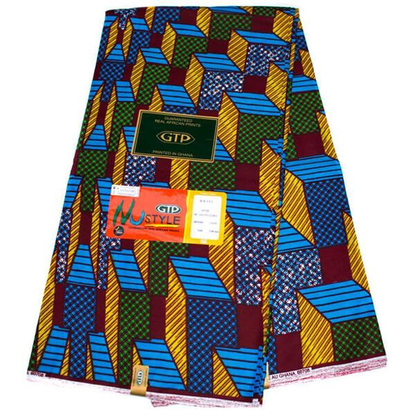 African fabric 6 yards, authentic/ made in Ghana/ blocks WP1251 - Tess World Designs, LLC