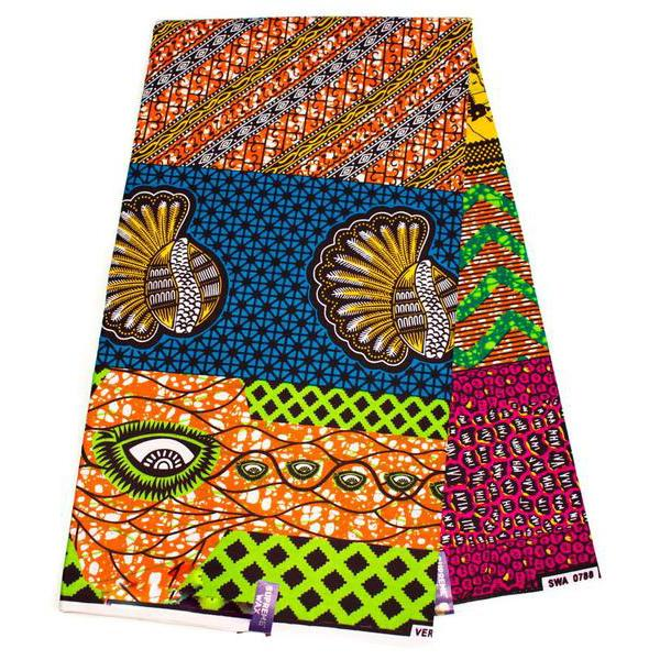 African fabric 6 yards/ Ankara fabric/ supreme wax print Fabric/ WP1279 - Tess World Designs, LLC