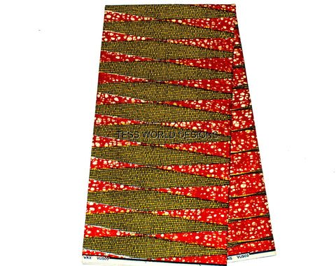 HW25 - Authentic Vlisco Holland Wax- Multi-colored Pencil - Tess World Designs