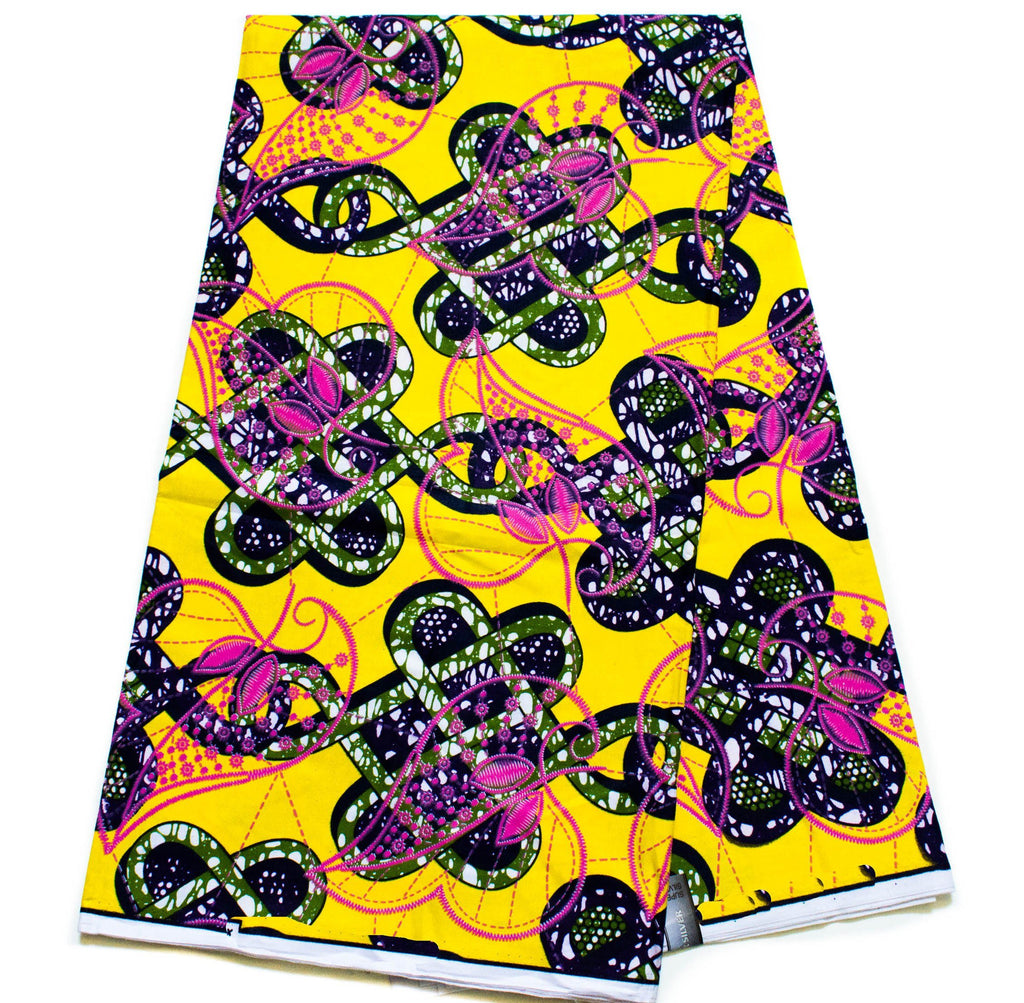 Yellow Exclusive African fabric/ African fabric 6 yards/ Ankara fabric/ Ankara clothing/ African fabric WP1217