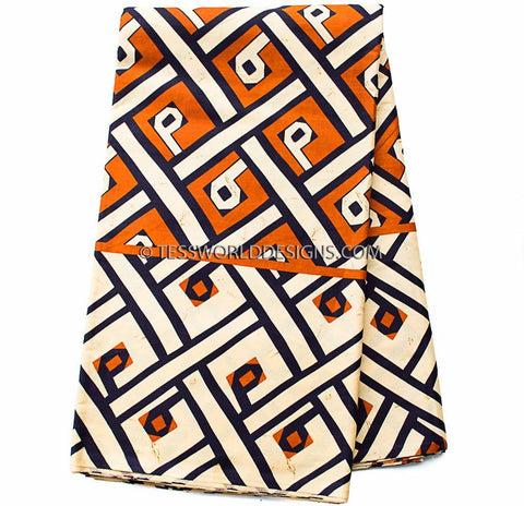 Tribal fabric Congo Kuba Print TP14 - Tess World Designs