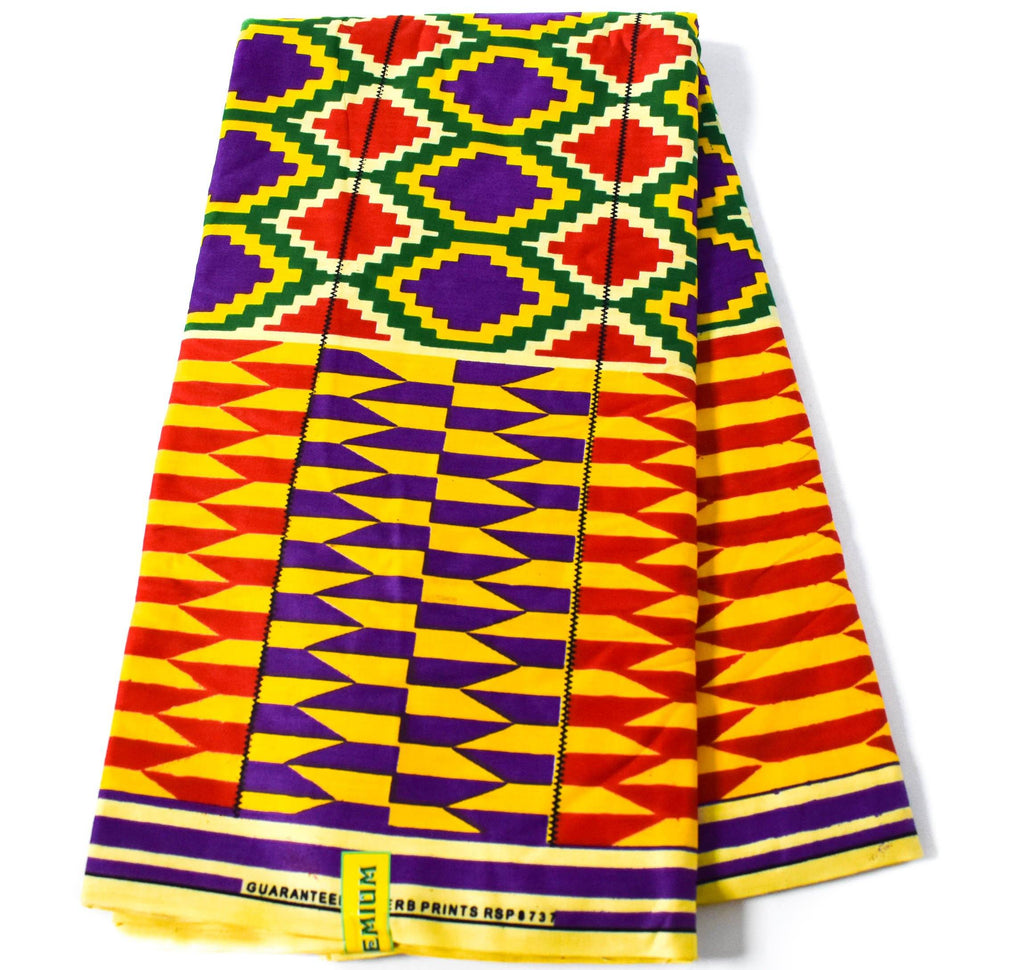 Ama Sewa Authentic Ghana Kente cloth 6 yards/ Kente fabric/ Made in Ghana/ Original kente/ Ankara print fabric/ African Print Fabric/ KF344 - Tess World Designs, LLC