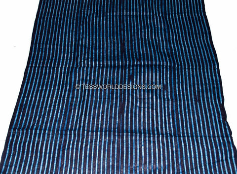 Authentic hand crafted thin indigo mudcloth from Guinea GMC02