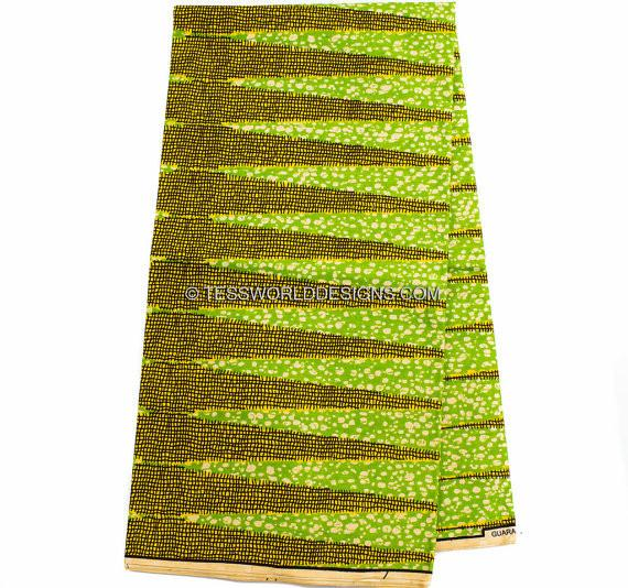 WP876 - African Fabrics , Green pencil, 6 yards