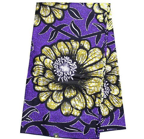 African fabric by the yard, Purple WP1038B